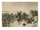 The British Under Napier Defeat Emperor Theodore at Tel-El-Kebir Giclee Print by Henri Dupray