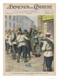 In St. Petersburg Passers-By are Searched for Bombs and Other Weapons Gicleetryck av Achille Beltrame