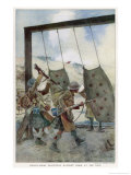Highlanders Practising Bayonet Drill World War One Giclee Print by Francois Flameng