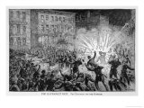 Chicago: The Eight-Hour Riots Culminate in a Dynamite Explosion Directed at the Police Giclee Print by William Ottman