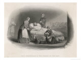 Florence Nightingale with a Patient in the Hospital at Scutari Premium Giclee Print by Charles Armytage