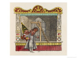Punch Teaches Jack Ketch How to Hang a Man Giclee Print by George Cruikshank