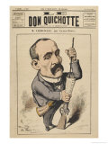Georges Clemenceau French Statesman: a Satire on Justice Giclee Print by Charles Gilbert-Martin