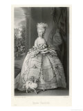 Charlotte Sophia of Mecklenburg-Strelitz Queen of George III Reproduction procédé giclée par G.h. Every