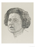 Rebecca West British Journalist and Author Gicleetryck av Powys Evans