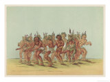 Bear Dance of the Sioux, One Dancer is Dressed as a Bear Giclee Print by George Catlin