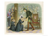 Lady Elisabeth Presents Edward IV with a Letter Her Sons Follow Behind Giclee Print by James Doyle