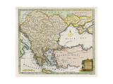 Map Showing Turkey in Europe and Its Neighbouring European States of the Balkans Giclee Print by T. Conder