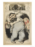 Gustave Courbet French Artist: a Satirical Depiction Giclee Print by André Gill