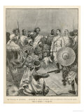 The Meeting of Menelik One of Ethiopia's Greatest Emperors with Major Salsa of the Italian Envoy Giclee Print by  Belloc