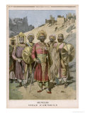 Menelik II Emperor of Ethiopia in Ceremonial Dress Giclee Print by Henri Meyer