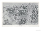 Persian War Chariots Charge Against Alexander the Great Giclee Print by Andre Castaigne
