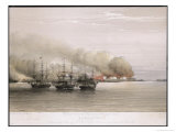 Bomarsund Bombarded Giclee Print by W. Browne
