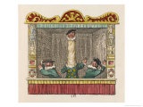 The Courtier with the Long Neck Giclee Print by George Cruikshank