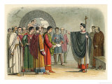 Thomas Becket Refuses to Seal the Constitutions of Claredon Giclee Print by James Doyle