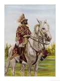 Haile Selassie Emperor of Ethiopia on His Horse Giclee Print by O. De Goguine