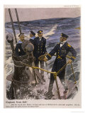 German U-Boat Crew Look out for Enemy Ships Giclee Print by Ernst Heilemann