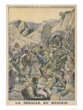 Austrians Retreat in the Face of Russian Advances in Hungary Gicleetryck av Eugene Damblans