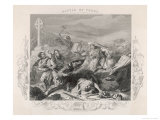Charles Martel Halts the Advance of the Saracen Forces at the Battle of Tours Giclee Print by  Duncan