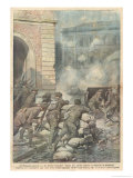 Two-Day Battle Between the British Army and Sinn Fein in the Palace of Justice Dublin Giclee Print by Achille Beltrame