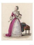Mademoiselle Clairon (Claire Josephe Hippolyte Leris de la Tude) French Actress Giclee Print by  Geille