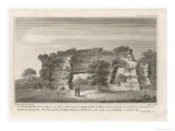 Surviving Section of the Roman Wall of Wroxeter Giclee Print by James Basire