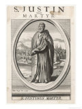 Saint Justinus the Martyr Palestinian Philosopher and Lay Preacher Eventually Beheaded at Rome Giclee Print by Michael Burghers