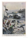 At Nablus Palestinians Rebel Against British Mandate Giclee Print by Achille Beltrame