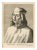 Michele Marulli Greek Scholar in Italy Giclee Print by Nicolas de Larmessin