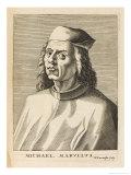 Michele Marulli Greek Scholar in Italy Giclee Print by Nicolas de Larmessin