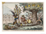 Napoleon the Little Corsican Gardener Plants What He Hopes Will be a New Dynasty Giclee Print by James Gillray