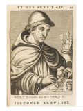 Berthold Schwarz German Monk and Alchemist Possibly Legendary Giclee Print by Nicolas de Larmessin