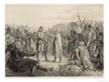 After the Death of Haakon Jarl Oflf Tryggvesson is Elected King and Crowned Giclee Print by P.n. Arbo