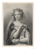 Philippa of Hainault Queen of Edward III of England Giclee Print by W.h. Egleton