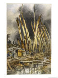 Devastated Trees at the French Front Line at Het-Sas Yser Giclee Print by Francois Flameng
