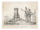 The French Coloniser Jean Ribault Sets up His Column in Florida Giclee Print by Theodor de Bry