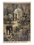 Cemetery Looting 1917 Giclee Print by Eugene Damblans