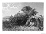 Menstrual Lodge of Native American Peoples Giclee Print by S. Eastman