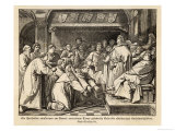 The Hanseatic League Judges Rule-Breaking Traders Giclee Print by Erhardt