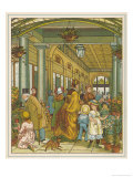 Buying Flowers at Covent Garden Market Giclee Print by Thomas Crane