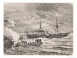 The Union Ship &quot;San Jacinto&quot; Halts the &quot;Trent&quot; and Confederate Delegates are Arrested Giclee Print by Alphonse De Neuville