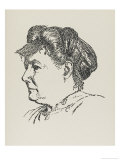 May Sinclair (Mary Amelia St. Clair Sinclair) Short Story Writer Gicleetryck av Powys Evans