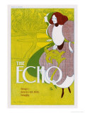Poster for the Echo, Chicago's Humorous and Artistic Fortnightly Lmina gicle por Will H. Bradley
