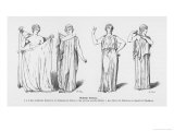 The Procedure for Putting on the Greek Toga or Chiton Giclee Print by Adolf Closs