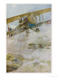 French Spad Aircraft on Patrol Giclee Print by Francois Flameng