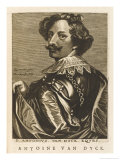 Antony Van Dyck Flemish Painter Court Painter to Charles I Giclee Print by Nicolas de Larmessin