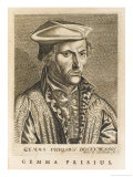 Reinier Gemma Alias Frisius Dutch Mathematician and Medical Giclee Print by Esme De Boulonois