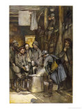 German Prisoners in a French Camp at Souville are Fed by Their Captors Giclee Print by Francois Flameng