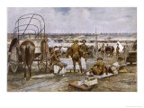 Canadian Cavalry Brigade Camp Giclee Print by Francois Flameng