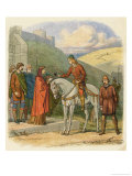 King Edward Murdered at Corfe Castle Allegedly by His Stepmother Aethelthryth Giclee Print by James Doyle